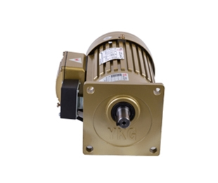 Vertical gear reducer with brake
