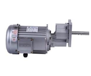Silver profile of vertical gear reducer