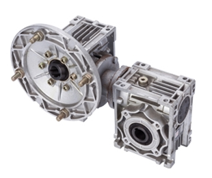 Two stage worm gear reducer NMRV